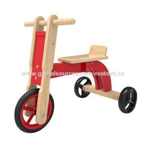 Solid Durable Children MDF Solid Wood Bending Four Wheel Car Kids Toys baby walker