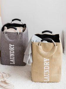 Rectangular cloths and clothes baskets