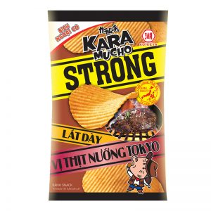Potato snack Karamucho Strong thick slice BBQ Tokyo flavor – 44g